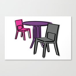 Table & Chairs 01 Canvas Print