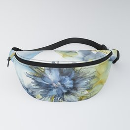 Alcohol Ink - Blue Floral Series 2 Fanny Pack