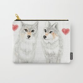 WOLVES IN LOVE / WOLF VALENTINE / WOLF PACK / WOLF LOVE Carry-All Pouch