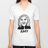 amy poehler V-neck T-shirts featuring Amy Poehler by Flash Goat Industries