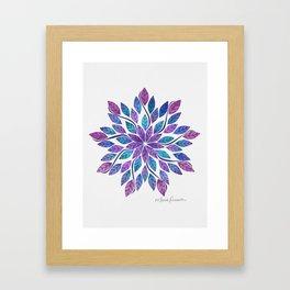 Leaf Mandala - Jewel Tones Framed Art Print