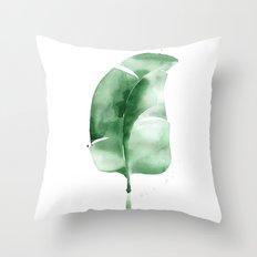 Banana Leaf no. 1 Throw Pillow