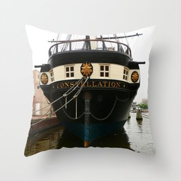 USS Constellation Detail Throw Pillow