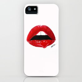 Sexy Red Lips iPhone Case