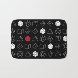 Black Dungeons and Dragons Dice Set Pattern Bath Mat