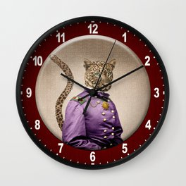 Grand Viceroy Leopold Leopard Wall Clock