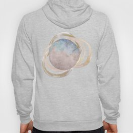 Abstract Circles Fake Glitter WatercolorSpace Design Hoody