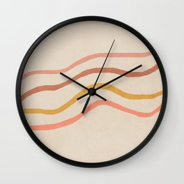Mid century lines abstract art Wall Clock