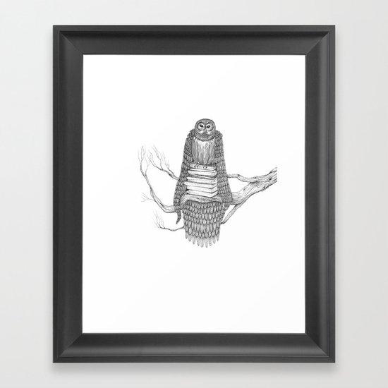 The Owl- Feathered Framed Art Print