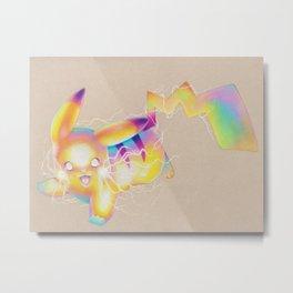 Electric Mouse Metal Print