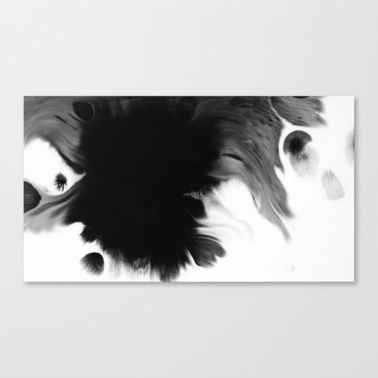 Black ink Canvas Print