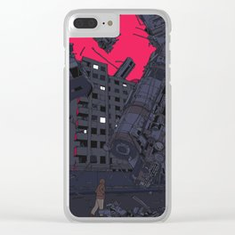 Fallen Train Clear iPhone Case