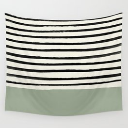 Sage Green x Stripes Wall Tapestry