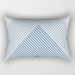 Shades of Blue Abstract geometric pattern Rectangular Pillow