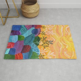 on and on fields Rug