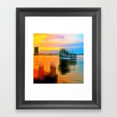 Before the docking Framed Art Print