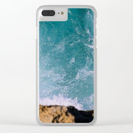 Blue dreams Clear iPhone Case