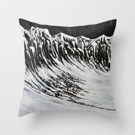 Starlit Cliffs Throw Pillow