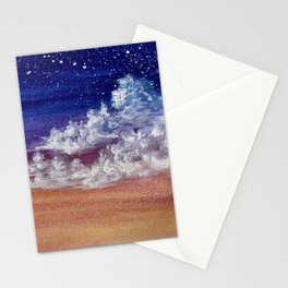 Colorful Sunset Clouds Painting Stationery Cards
