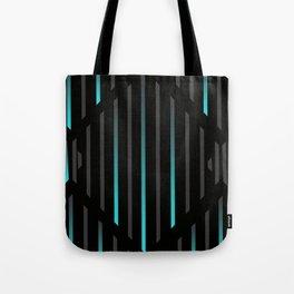Blue Icy Rain: Black Tote Bag