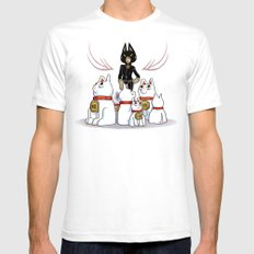 Woman Of Cats SMALL Mens Fitted Tee White