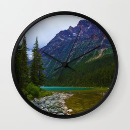 Cavell Lake in Jasper National Park, Canada Wall Clock