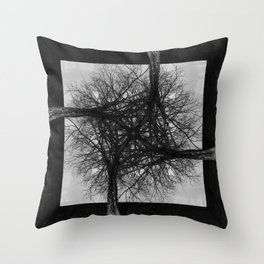 Fractal Tree Confusion Throw Pillow