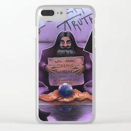 'Cosmic Wisdom' Clear iPhone Case