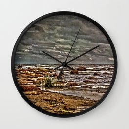 Baltic Sea at Kaltene West Coast Latvia Wall Clock