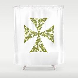 Lindisfarne St Johns Knot Grunge Shower Curtain