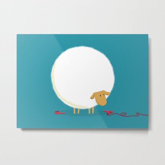 Fluffy Sheep Metal Print