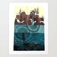 le pêcheur Art Print