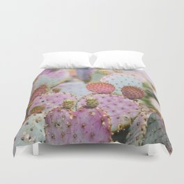 Cotton Candy Cacti Duvet Cover