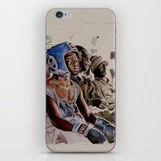 BRONX BOXING BOYS - sepia/blue version iPhone & iPod Skin