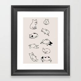 More Sleep Frenchie Framed Art Print