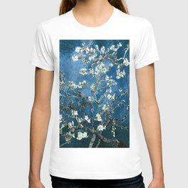 Van Gogh Almond Blossoms : Ocean Blue T-shirt