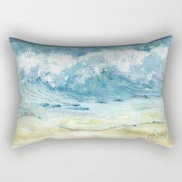 Ocean Waves Solana Beach Rectangular Pillow