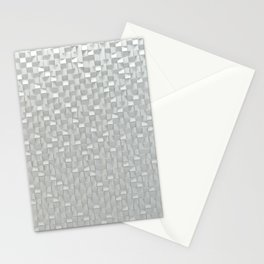 White mosaic pattern Stationery Cards