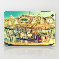 carousel iPad Cases featuring Carousel Merry-G0-Round by WhimsyRomance&Fun