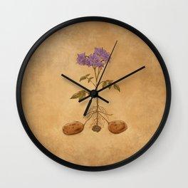 Anatomy of a Potato Plant Wall Clock
