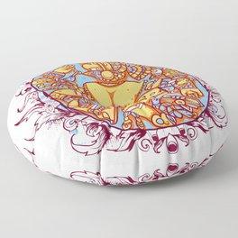 Inca design - Mayan Pinup Simbols Floor Pillow