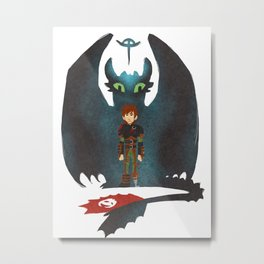 A Boy And His Dragon Metal Print