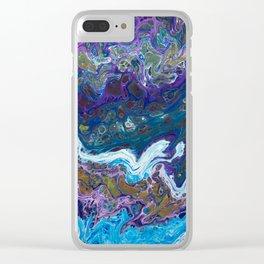 Rainbow Stream Clear iPhone Case
