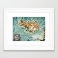 iceland Framed Art Prints featuring Iceland  by Gina Rafaella