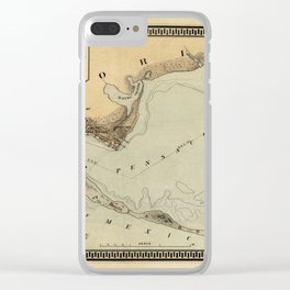 Map of Pensacola 1861 Clear iPhone Case