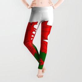 Welsh Dragon Flag Leggings