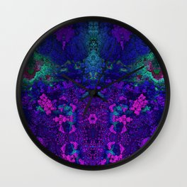 Destroyer Vibrant Blue Wall Clock
