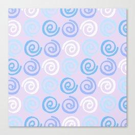 Lavender white blue violet aqua geometrical swirls pattern Canvas Print
