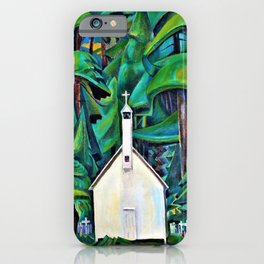 Emily Carr - The Indian Church - Digital Remastered Edition iPhone Case
