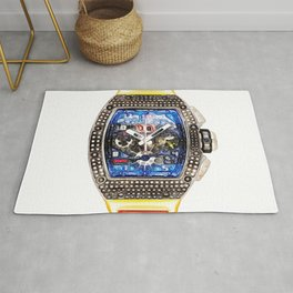 Richard Mille RM 11 White Gold with Custom Diamond Set Bezel Rug